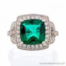 faux engagement rings cubic zirconia emerald green halo engagement ring my faux