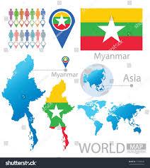 Union Of The Flag Republic Union Myanmar Flag Asia World Stock Vector 151386185