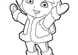 dora coloring pages coloring4free com