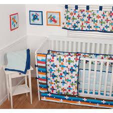 Sumersault Crib Bedding Sumersault Taking Flight 9 Nursery In A Bag Crib Bedding Set
