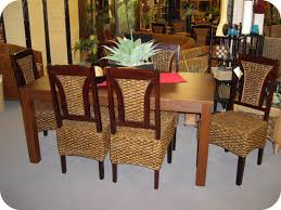 Comfy Dining Room Chairs by Dining Room Dark Brown Varnished Seagrass Chairs Mixed White