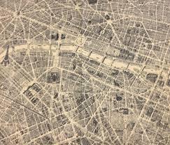 Map Fabric Paris Destination Paris France Street Map Eiffel Tower Notre Dame