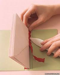 How To Fold Paper For Envelope Envelope Books Paper Binding How To Martha Stewart