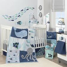 Fish Crib Bedding by Lambs U0026 Ivy R Oceania Aqua Blue Aquatic 4 Piece Crib Bedding Set
