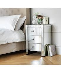 Mirrored Bedside Tables Buy Heart Of House Canzano 3 Drawer Mirrored Bedside Chest At