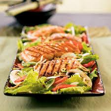 maple glazed asian salmon salad rodale u0027s organic life