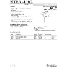 sterling 442128 0 sacramento white pedestals single bowl bathroom