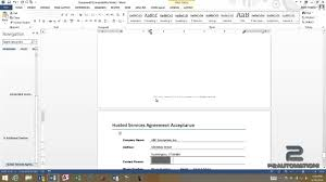 Contract Templates Free Word Templates Using Word Templates To Create A Simple Contract Youtube
