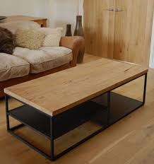 coffee table amazing iron and wood coffee table metal frame