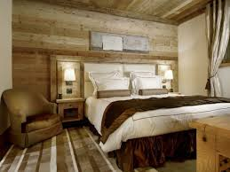 chalet style accent wall of wooden planks furnish burnish