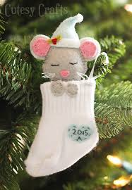 baby sock diy ornaments cutesy crafts