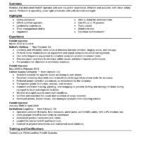Forklift Driver Resume Examples by Impressive Resume Sample For Heavy Equipment Operator Job With