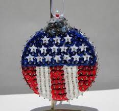 sequin ornament american flag by stormsleadtorainbows