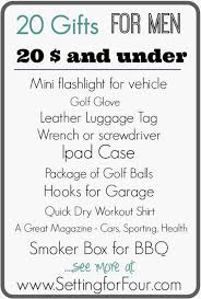 20 gifts for men 20 and under list setting for four