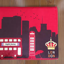 london style door mat 45 115cm long rectangle flannel anti slip