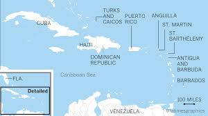 Map Of The Caribbean Islands by A Look At The Caribbean Islands Hurricane Irma Is Turning Into A