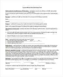 sample medical form generic medical records release form 10