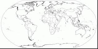 stunning printable blank world map with world map coloring page