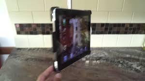 Belkin Kitchen Cabinet Tablet Mount Kitchen Ipad Undercabinet Mount Youtube