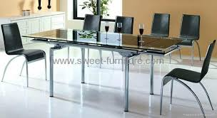 Modren Glass Dining Room Table With Extension Tables Extensions - Dining room tables with extensions