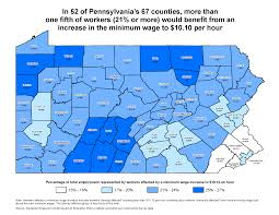 Pennsylvania Counties Map by New Analysis Finds Over A Million Workers From Every Part Of
