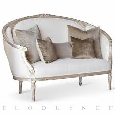 sofa canapé eloquence versailles canape sofa in silver leaf kathy kuo home