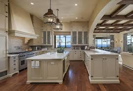 Traditional Kitchen With Mexican Tile Backsplash  Glass Panel In - Mexican backsplash