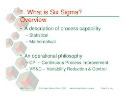 Seeking Cap 1 Six Sigma Primer Seeking Meaningful Improvments