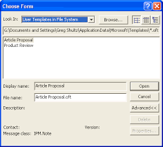create outlook e mail templates and integrate them onto the