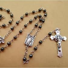 religious jewelry new fashion antique religious jewelry metal flower black