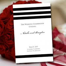 black and white wedding programs wedding program template black white simply stripes 2309675