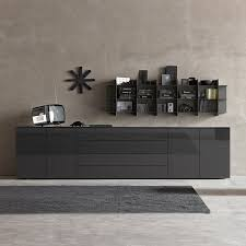 Black Gloss Sideboards Space Blue High Gloss Sideboard 270cm