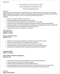 sample custodian resume 8 examples in word pdf