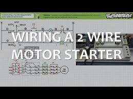 wiring a two wire magnetic motor starter hand off auto circuit