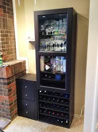 besta wine rack and liquor cabinet ikea hackers