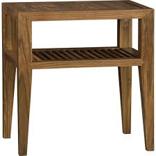 crate and barrel accent tables marin side table at crate barrel solid weathered elm slatted