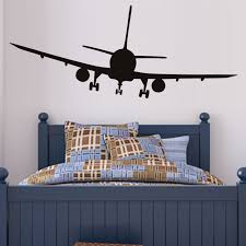 airplane home decor commercial airliner wall decal removable home decor airplane