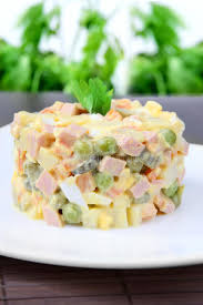 olivier cuisine salad olivier stock photo image of bowl bread healthy 28486068