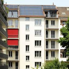 multi family house solar collector systems schweizer metallbau