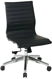 desk chair without arms 73631 office star modern mid back black eco leather chair without