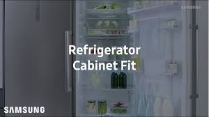 samsung tall one door refrigerator cabinet fit youtube