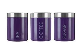 purple kitchen canister sets premier housewares liberty tea coffee and sugar