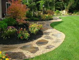Backyard Walkway Designs - landscaping a yard with poor drainage landscaping drainage