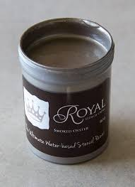 stencil paint stencil creme smoked oyster royal design studio