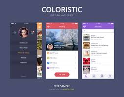 download free full version apps iphone 4 simple colorful ios android ui kit psd freepsd psd via
