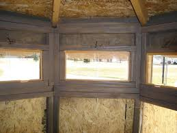 plexiglass windows in box blind