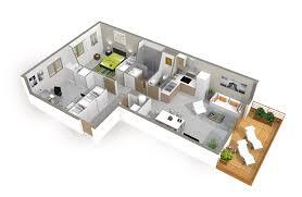 cr r sa chambre 3d plan maison moderne 3d de lzzy co