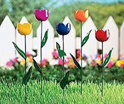 tulip lawn garden plant stake yard ornaments flower