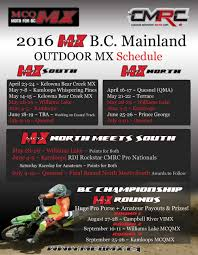 motocross race schedule bc north south schedule announced canadian motosport racing corp