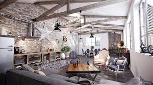 modern industrial rustic living room design home design ideas